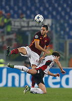 AS Roma's Konstantinos Manolas during the Champions League Group E soccer match between As Roma and  Bayer Leverkusen at the Olympic Stadium in Rome, November 04 2015