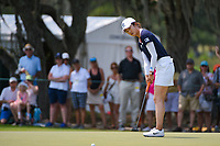 Yu Liu (CHN) barely misses her birdie putt on 4 during round 4 of the 2019 US Women's Open, Charleston Country Club, Charleston, South Carolina,  USA. 6/2/2019.<br /> Picture: Golffile | Ken Murray<br /> <br /> All photo usage must carry mandatory copyright credit (© Golffile | Ken Murray)