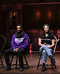 Tyler McKenzie and Lauren Boyd during the #EduHam Q & A at the Richard Rodgers Theatre on November 15, 2017 in New York City.