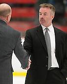 Don Vaughan (Colgate - Head Coach) - The Harvard University Crimson defeated the Colgate University Raiders 4-1 (EN) on Friday, February 15, 2013, at the Bright Hockey Center in Cambridge, Massachusetts.