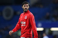 James Tomkins of Crystal Palace ahead of kick-off during Chelsea vs Crystal Palace, Premier League Football at Stamford Bridge on 4th November 2018