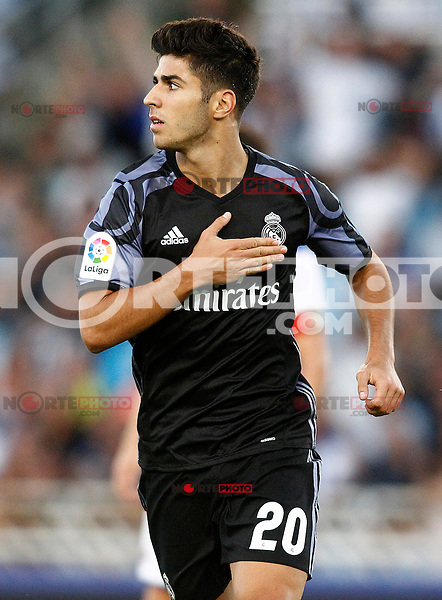 Real Madrid's Marco Asensio celebrates goal during La Liga match. August 21,2016. (ALTERPHOTOS/Acero) /NORTEPHOTO