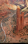 Spider Rock and Canyon de Chelly from Spider Rock Overlook, Canyon de Chelly National Monument, Navajo Nation, Chinle, Arizona