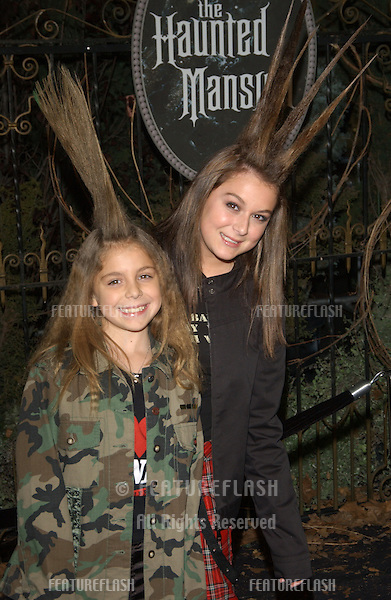 ALEXA VEGA (right) & sister McKENZIE at the world premiere of The Haunted Mansion..November 23, 2003