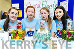 Aoife Walsh, Aoife Kerins, Leah Cahill and Jane Lawlor, students attending Presentation Secondary School Castleisland pictured with their project Floral Floats at IT Tralee Student Enterprise awards on Friday last.