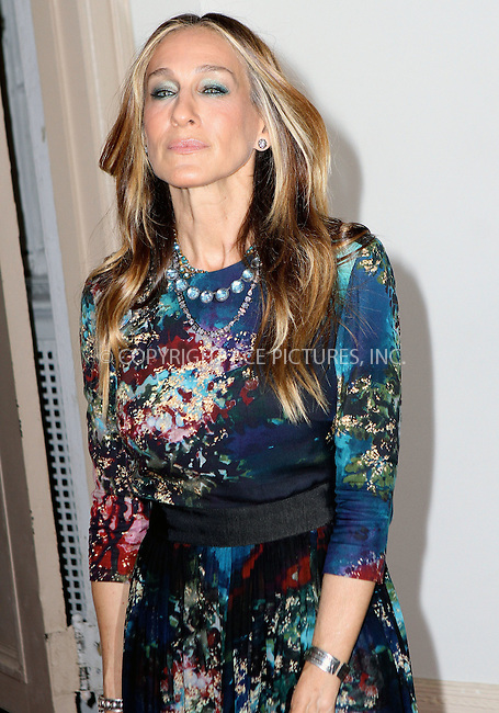 WWW.ACEPIXS.COM<br /> <br /> June 8 2015, New York City<br /> <br /> Sarah Jessica Parker arriving at the Irish Repertory Theatre's YEATS: The Celebration on June 8 2015 at Town Hall in New York City.<br /> <br /> <br /> Please byline: Nancy Rivera/ACE Pictures<br /> <br /> ACE Pictures, Inc.<br /> www.acepixs.com, Email: info@acepixs.com<br /> Tel: 646 769 0430