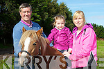 Tom Moriarty, Nikita Teahan, Catriona O'Leary Glenbeigh enjoying the Kerry Bog Pony show and sale in Glenbeigh on Saturday..