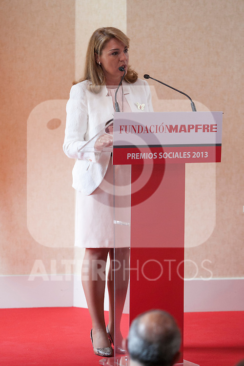 Social Services Secretary Susana Camarero during the Mapfre Foundation Social Awards ceremony at Mapfre Campus in Madrid, Spain. May 20, 2014. (ALTERPHOTOS/Victor Blanco)