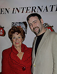 Marion Ross wins best supporting actress & poses with Dylan Bank at Gala Awards Night - Closing Night - Hoboken International Film Festival held June 5, 2014 at the Paramount Theatre, Middletown, New York. (Sue Coflin/Max Photos)