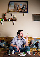 Marijuana critic for the Cannabist Jake Browne at his home in Denver, Colorado, Wednesday, January 21, 2015.<br /> <br /> Photo by Matt Nager