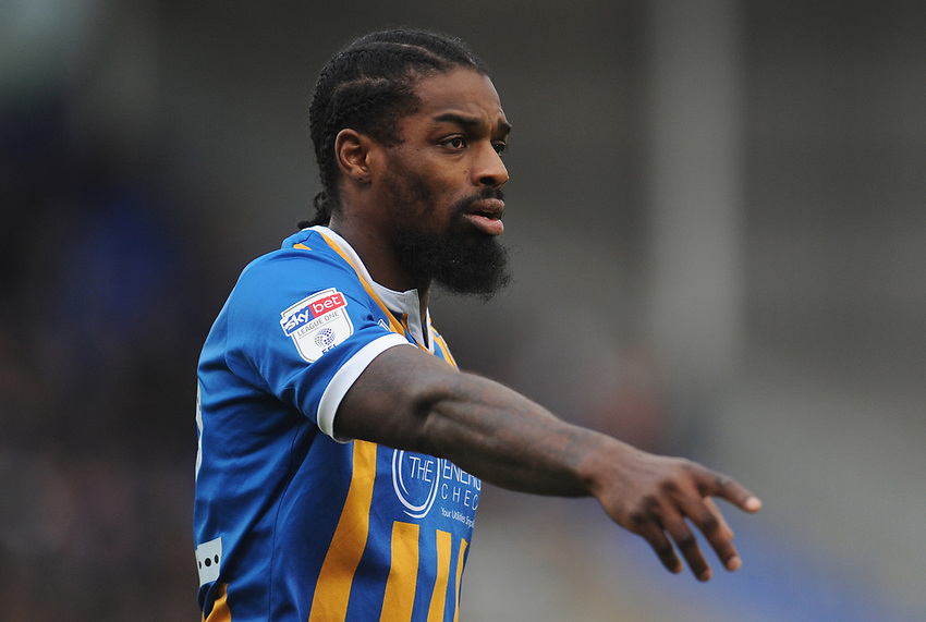 Shrewsbury Town's Anthony Grant<br /> <br /> Photographer Kevin Barnes/CameraSport<br /> <br /> The EFL Sky Bet League One - Shrewsbury Town v Fleetwood Town - Tuesday 1st January 2019 - New Meadow - Shrewsbury<br /> <br /> World Copyright © 2019 CameraSport. All rights reserved. 43 Linden Ave. Countesthorpe. Leicester. England. LE8 5PG - Tel: +44 (0) 116 277 4147 - admin@camerasport.com - www.camerasport.com