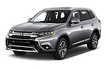 2019 Mitsubishi Outlander GT 5 Door SUV Angular Front automotive stock photos of front three quarter view