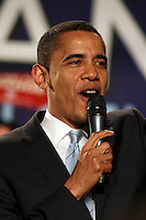 President Obama, prior to his election, at a February rally in Boston, MA.