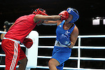 Glasgow 2014 Commonwealth Games<br /> Charlene Jones, Wales (Blue) v Hansika Arachchi, Sri Lanka (Red)<br /> Women's Light (57-60kg)<br /> SECC<br /> 29.07.14<br /> &copy;Steve Pope-SPORTINGWALES