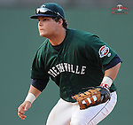 First baseman Miles Head of the Greenville Drive, Class A affiliate of the Boston Red Sox, in a game against the Augusta GreenJackets on April 10, 2011, at Fluor Field at the West End in Greenville, S.C. Photo by Tom Priddy / Four Seam Images
