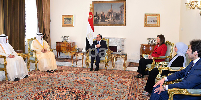 Egyptian President Abdel Fattah al-Sisi meets with UAE ministerial delegation in Cairo, Egypt on July 4, 2018. Photo by Egyptian President Office