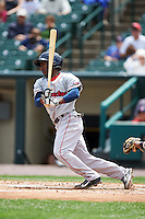 Pawtucket Red Sox shortstop Jemile Weeks (2) at bat during a game against the Rochester Red Wings on July 1, 2015 at Frontier Field in Rochester, New York.  Rochester defeated Pawtucket 8-4.  (Mike Janes/Four Seam Images)
