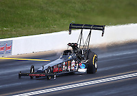 May 22, 2016; Topeka, KS, USA; NHRA top fuel driver Scott Palmer during the Kansas Nationals at Heartland Park Topeka. Mandatory Credit: Mark J. Rebilas-USA TODAY Sports