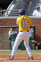 Matt Gaudet #35 of the LSU Tigers at Lindsey Nelson Stadium in game against Tennessee Volunteers in Knoxville, TN March 27, 2010 (Photo by Tony Farlow/Four Seam Images)