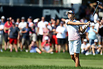 DES MOINES, IA - AUGUST 19: USA's Lexi Thompson watches her second shot on the 10th hole of their afternoon four-ball match Saturday at the 2017 Solheim Cup in Des Moines, IA. (Photo by Dave Eggen/Inertia)