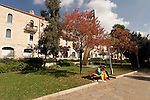 Israel, Jerusalem, Daniel Auster Garden and the municipality building<br />
