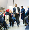 Sadiq Khan <br /> Labour mayor of London candidate speech at the university he attended, on increasing opportunities for all Londoners at London Metropolitan University, Holloway, London, Great Britain <br /> 25th April 2016 <br /> <br /> Sadiq Khan arrives with Doreen Lawrence, Baroness Lawrence of Clarendon, OBE who introduced him.<br /> <br /> Photograph by Elliott Franks <br /> Image licensed to Elliott Franks Photography Services