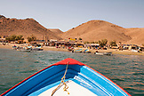 MEXICO, Baja, Magdalena Bay, Pacific Ocean, a view of the small fishing village, Isla Magdalena