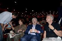 Roma, 18 Giugno 2017<br /> Luca Casarini, Luciana Castellina, Massimo D'Alema, Nichi Vendola<br /> Assemblea al Teatro Brancaccio per costruire un'alleanza popolare per la Democrazia e l'Uguaglianza, una Alternativa a Sinistra del Partito Democratico.