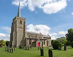 Village parish church of Saint Mary the Virgin, Bramford,  Suffolk, England, UK