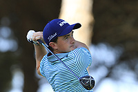 Paul Dunne (IRL) tees off the 4th tee during Saturday's Round 3 of the 2018 Turkish Airlines Open hosted by Regnum Carya Golf &amp; Spa Resort, Antalya, Turkey. 3rd November 2018.<br /> Picture: Eoin Clarke | Golffile<br /> <br /> <br /> All photos usage must carry mandatory copyright credit (&copy; Golffile | Eoin Clarke)
