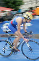 31 AUG 2007 - HAMBURG, GER - Jeanne Collonge (FRA) - Under 23 Womens World Triathlon Championships. (PHOTO (C) NIGEL FARROW)