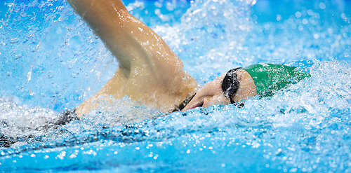 12 AUG 2012 - LONDON, GBR - Laura Asadauskaite (LTU) of Lithuania during her women's London 2012 Olympic Games Modern Pentathlon swimming heat at the Aquatic Centre in the Olympic Park, in Stratford, London, Great Britain (PHOTO (C) 2012 NIGEL FARROW)