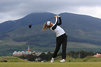 Elina Saksa (FIN) on the 2nd tee during Round 1 of the Women's Amateur Championship at Royal County Down Golf Club in Newcastle Co. Down on Tuesday 11th June 2019.<br /> Picture:  Thos Caffrey / www.golffile.ie<br /> <br /> All photos usage must carry mandatory copyright credit (© Golffile | Thos Caffrey)