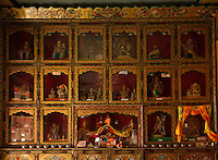 The interiors of the Thikse monastery in Ladakh