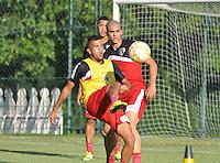 SÃO PAULO.SP. 20.04.2015 - SPFC TREINO - Jogadores do São Paulo durante o treinamento do São Paulo no CT da Barra Funda zona oeste nesta segunda feira 20. ( Foto: Bruno Ulivieri / Brazil Photo Press )