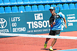 Taimei Marunaka (JPN), <br /> AUGUST 31, 2018 - Soft Tennis : <br /> Men's Team  Preliminary Round <br /> at Jakabaring Sport Center Tennis Courts <br /> during the 2018 Jakarta Palembang Asian Games <br /> in Palembang, Indonesia. <br /> (Photo by Yohei Osada/AFLO SPORT)