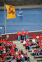 Nov. 28, 2009; Tempe, AZ, USA; Arizona Wildcats fans in the crowd against the Arizona State Sun Devils at Sun Devil Stadium. Arizona defeated Arizona State 20-17. Mandatory Credit: Mark J. Rebilas-