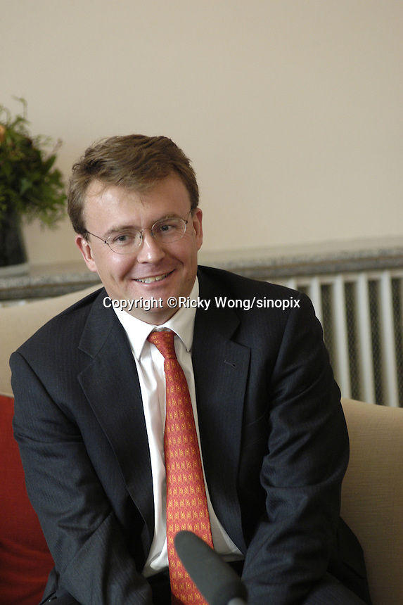Dutch Prince Johan Friso is pictured during The Prince Claus Award press conference in the residency of Dutch embassay in Beijing. China on December 3, 2003.
