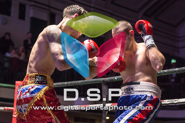 Jamie Arlain VS Todor Boyadjiev - Super Lightweight Contest. Photo by: Stephen Smith<br /> <br /> Goodwin Boxing: Out and About - Saturday 7th Nov 2015.<br /> <br /> York Hall, Bethnal Green, London, United Kingdom.