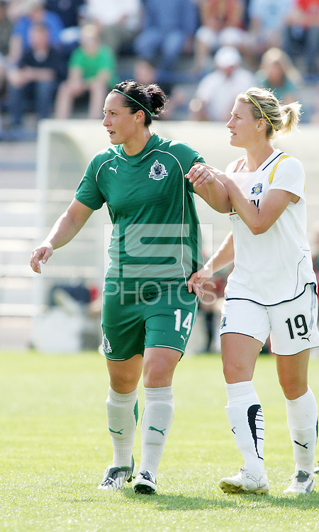 Melissa Tancredi#14, Martina Franko...Saint Louis Athletica and LA Sol, played to a 0-0 tie at Robert Hermann Stadium in St Louis, MO. April 25 2009.