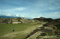 The Gran Plaza at the pre-Hispanic ruins of Monte Alban, Oaxaca, Mexico