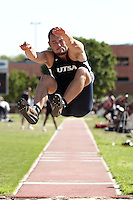 SAN ANTONIO, TX - APRIL 1, 2011: The University of Texas at San Antonio Roadrunners Track & Field team competes at the Trinity Alumni Classic at E.M. Stevens Stadium on the campus of Trinity University. (Photo by Jeff Huehn)