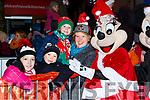 Minnie Mouse met Grainne Creed, Luke, Tucker, Jack Healy and Amelia Tucker at the Kiilarney Christmas parade on Saturday night