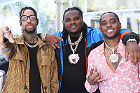 LOS ANGELES, CA - JUNE 23: PnB Rock, Tee Grizzley and London On Da Track at the 2019 BET Awards at the Microsoft Theater in Los Angeles on June 23, 2019. Credit: Walik Goshorn/MediaPunch
