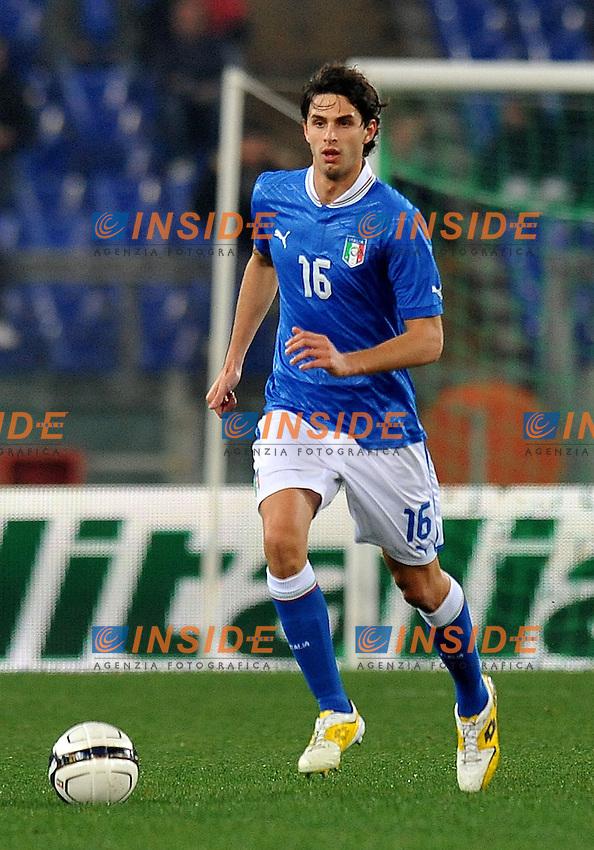 """Andrea RANOCCHI (Italia).Roma 15/11/2011 Stadio """"Olimpico"""".Gara amichevole 2011/2012.Football Calcio Italia Vs Uruguay.Foto Insidefoto Alessandro Sabattini."""