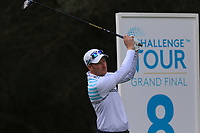 Steven Tiley (ENG) on the 8th tee during Round 2 of the Challenge Tour Grand Final 2019 at Club de Golf Alcanada, Port d'Alcúdia, Mallorca, Spain on Friday 8th November 2019.<br /> Picture:  Thos Caffrey / Golffile<br /> <br /> All photo usage must carry mandatory copyright credit (© Golffile | Thos Caffrey)