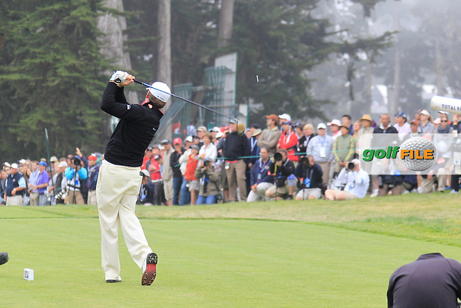 Graeme McDowell (NIR) tees off the 9th tee during Sunday's Final Round of the 112th US Open Championship at The Olympic Club, San Francisco,  California, 17th June 2012 (Photo Eoin Clarke/www.golffile.ie)