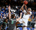 BROOKINGS, SD - DECEMBER 12: Chris Howell #3 from South Dakota State takes the ball to the basket against Billy Brown #3 from North Dakota during their game Tuesday night at Frost Arena in Brookings, SD. (Photo by Dave Eggen/Inertia)