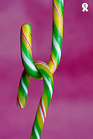 Two Candy canes (Licence this image exclusively with Getty: http://www.gettyimages.com/detail/sb10069714ar-001 )