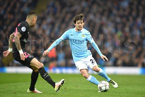 12.04.2016. manchester, England. UEFA Champions league, quarterfinals, second leg. Manchester City versus Paris St Germain.  DAVID SILVA (man)
